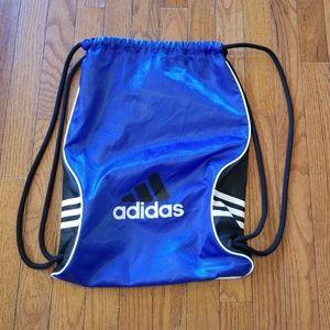 Adidas Drawstring Backpack  Blue Black